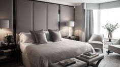 A luxurious Master Suite, with His and Her Dressing rooms in an elegant colour scheme || The nu:group