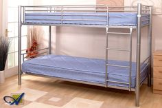 Needing a bed set for your children?  The Oslo Bunk Bed with two London mattresses is a versatile bed set for children.