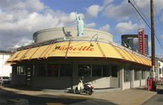 Noshville Deli, a true New York deli, right down to the black and white cookies and tubs of pickles on the tables.  Great egg creams, too.