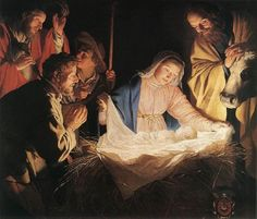 Gerrit van Honthorst (Dutch painter, 1590-1656) Adoration of the Shepherds