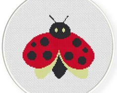 INSTANT DOWNLOAD Ladybug Fat PDF Cross Stitch Pattern Needlecraft