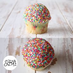 Inspired by Aussie fairy bread, these colorful treats are a cupcake-sized party.