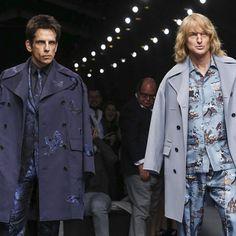 Stealing the show, #Zoolander's supermodel duo make their catwalk return at #Valentino! #BlueSteel #PFW #regram lagoblu