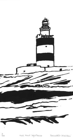 Irish Landscape, Contemporary Jewellery, Sculpture Art, Lighthouse, Screen Printing, Prints, Bell Rock Lighthouse, Screen Printing Press, Light House