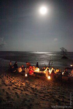 Full beach barbeque in Kenya