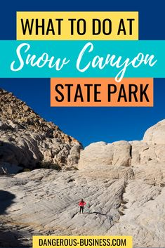 A Gorgeous Photography Destination in SouthWest Utah! This is the best Travel Guide complete with hikes and more. The best time to visit Snow Canyon State Park in Utah is during the winter off-season. Here's everything you need to know! #Utah #USATravel #TravelGuide
