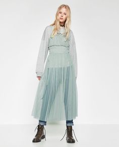ZARA - COLLECTION AW16 - GATHERED TULLE DRESS