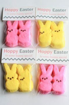 You'll need just a few supplies and the Hoppy Easter Treat Bag Toppers (FREE PRINTABLE!) to be one your way to making these cute little Easter treats.