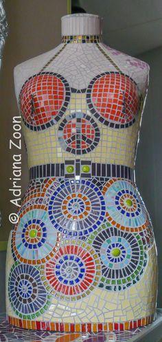 La Femme Sans Tête   Torso vrouw. Glas en door AdrianaBitsandPieces, €425.00