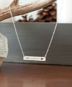Arrow Necklace  Silver Arrow  Arrow Jewelry by JanuaryJewelryShop, $30.00