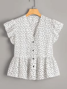 Check out this Confetti Heart Print Peplum Blouse on Shein and explore more to meet your fashion needs!