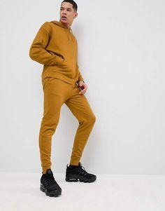 DESIGN Tracksuit Oversized Hoodie Skinny Sweatpants In Dark Yellow 467363c39e7d