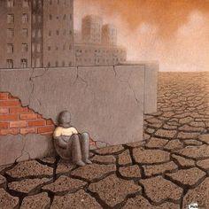 Dead City Canvas Print ~ Pawel Kuczynski