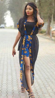 Collection of the most beautiful and Stylish Ankara Kimono Dresses, trendy ankara kimono dress, beautiful ankara kimono styles, stylish ankara kimonos, ankara kimono that trends Trendy Ankara Styles, Ankara Dress Styles, African Print Dresses, African Dresses For Women, African Wear, African Attire, African Women, African Inspired Fashion, Latest African Fashion Dresses