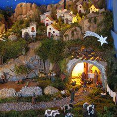 Belenes Christmas Village Sets, Christmas Nativity Scene, Christmas Villages, Christmas Holidays, Christmas Crafts, Christmas Decorations, Christmas Ornaments, Nativity Scenes, Felt Ornaments