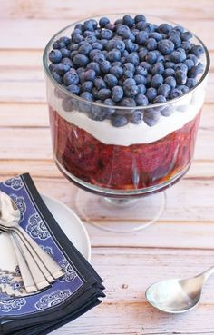 Summer Berry Pudding Trifle from This Mama Cooks  #BHGSummer