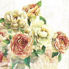 4 papel de Almuerzo Servilletas Para Decoupage Mesa de Fiesta Artesanía Vintage Elizabeth Rosas