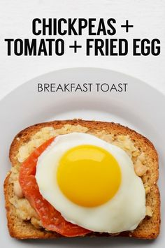 Mashed Chickpeas + Tomato Slice + Fried Egg   21 Ideas For Energy-Boosting Breakfast Toasts