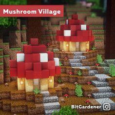 I made some little mushroom houses By u/bitgardener in 2020 Minecraft crafts Minecraft designs Minecraft decorations