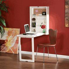 Fold-down wall desk