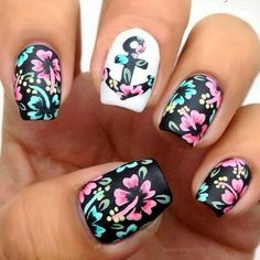 17 Marvelous Floral Nail Designs For Quick Nails | Nail Design