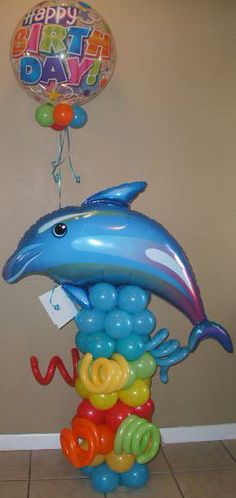 Fun Balloon Tropical Design Balloon Centerpieces, Balloon Decorations, Birthday Party Decorations, Balloon Ideas, Birthday Pins, Birthday Wishes Cards, Birthday Activities, Balloon Delivery, Gift Bouquet
