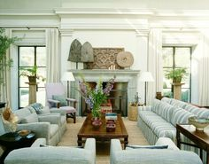 20 Great Shades of White Paint and Some To Avoid   serene living room by Michael S Smith   love the white on white walls and drapes