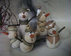 Hejno sněhuláků ...