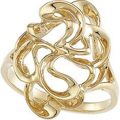 14K Yellow or White Gold Polished Fashion Ring