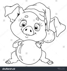 Find Cheerful Character Pig Chinese Horoscope Vector stock images in HD and millions of other royalty-free stock photos, illustrations and vectors in the Shutterstock collection. Christmas Rock, Christmas Colors, Christmas Snowman, Farm Coloring Pages, Coloring Books, Cartoon Drawings, Cute Drawings, Elephant Applique, Baby Pigs