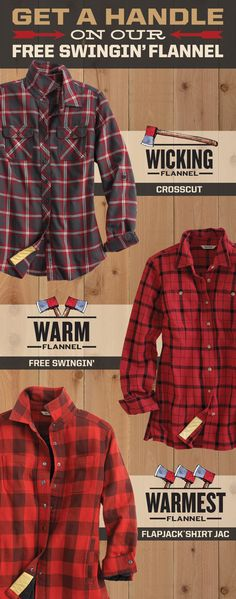 Tired of flimsy, constricting flannel? Our Free Swingin' Flannel is anything but. The fabric's soft, plush and hearty. And you can reach and stretch as you please thanks to hidden underarm gussets and a bi-swing back. Grab this easy-moving gift in three warm options.