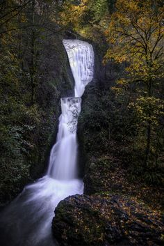 Autumn - Bridal Veil Falls, Columbia River Gorge, Oregon