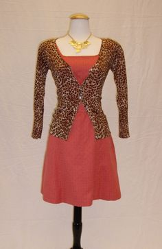 Dressing your truth DYT Type 3 T3 Outfit tan textured warm autumn leopard and coral gold