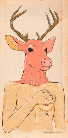 Oh deer! by Elena-Greta Apostol, via Behance