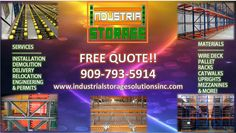 Do you need a custom design? We fabricate our own materials and can manufacture any size and weight that you require, Our clients range from factory warehouses to large food distribution plants and statewide industrial businesses who are striving to get custom Industrial racks at an affordable rate. Call us at 909-793-5914 visit our website at www.industrialstoragesolutionsinc.com