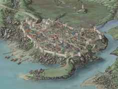 The City of Candlelorn - Stretch goal by Pieter Talens