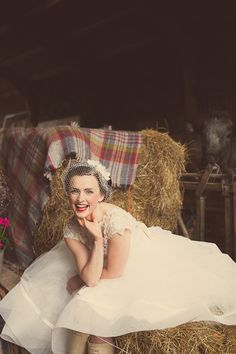 Vintage picture idea. In a polka dot dress.
