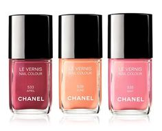 Chanel Le Vernis Spring 2012 Collection. I need to find a twinsie to that peach shade in the middle
