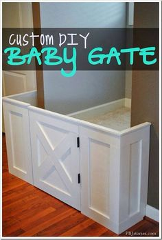 Baby gate with fireplace doors