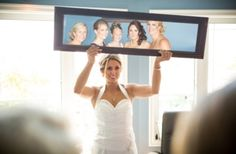 My Beautiful Bridesmaids looking back at me in a mirror Photo By Becky Fluery