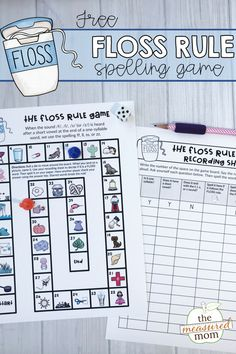 Print this free floss rule activity to help students master the spelling of words that follow the rule.