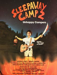 Sleepaway Camp II: Unhappy Campers poster, t-shirt, mouse pad Halloween Horror Movies, Scary Movies, Good Movies, Awesome Movies, 80s Movies, Movie 20, Film Movie, Movie List, Sleepaway Camp