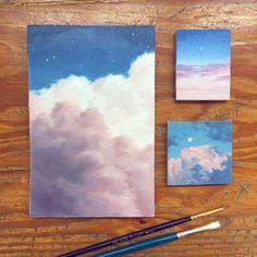 What is Your Painting Style? How do you find your own painting style? What is your painting style? Aesthetic Painting, Aesthetic Art, Painting Inspiration, Art Inspo, Mini Canvas Art, Acrylic Art, Painting & Drawing, Drawing Sky, Watercolor Art