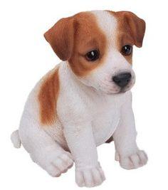 Sitting Jack Russel Terrier Puppy Statue