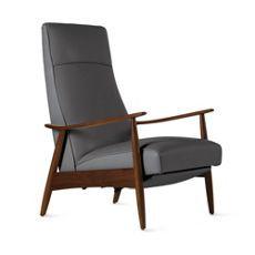 Milo Baughman Recliner 74 in Leather by Milo Baughman for Thayer Coggin  Design Within Reach
