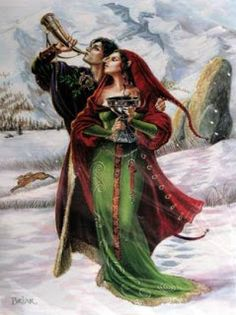 Yule/Winter Solstice : Cards by Occasion / Recipient : Home : Pagan/spiritual and fairy/fantasy greeting cards, prints and gifts at Moondragon Yule, Samhain, The Longest Night, Les Religions, Sabbats, Winter Solstice, Book Of Shadows, Winter Holidays, Wiccan