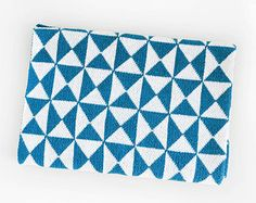Teal Triangle Baby Blankets