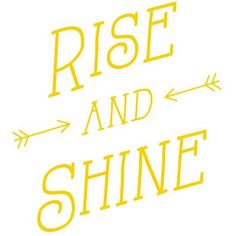 """The Decal Guru Rise and Shine Wall Decal Size: 46"""" H x 42"""" W x 0.01"""" D, Color: Light Yellow"""