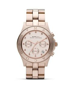 """MARC BY MARC JACOBS """"BLADE"""" Three-Eye Chronograph with Stainless Steel Bracelet, 40 mm 