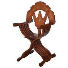 Moorish Syrian Brass Inlaid Armchair